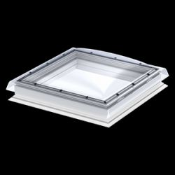 Velux Fix típus + kupola CFP+ISD - víztiszta, polikarbonát kupolával - 120x120