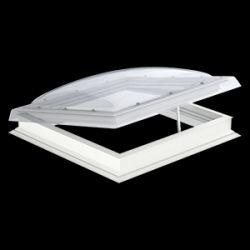 Velux Hajtókarral nyitható kupola CVP+ISD - víztiszta akril kupolával - 80x80 cm