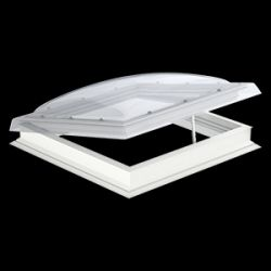 Velux Hajtókarral nyitható kupola CVP+ISD - víztiszta polikarbonát kupolával - 60x60 cm