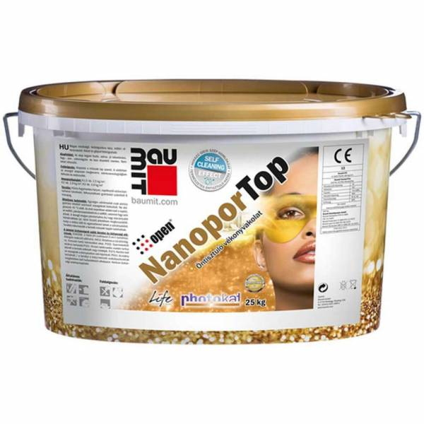 Baumit NanoportTop homlokzati vékonyvakolat - I. színcsoport - 25 kg