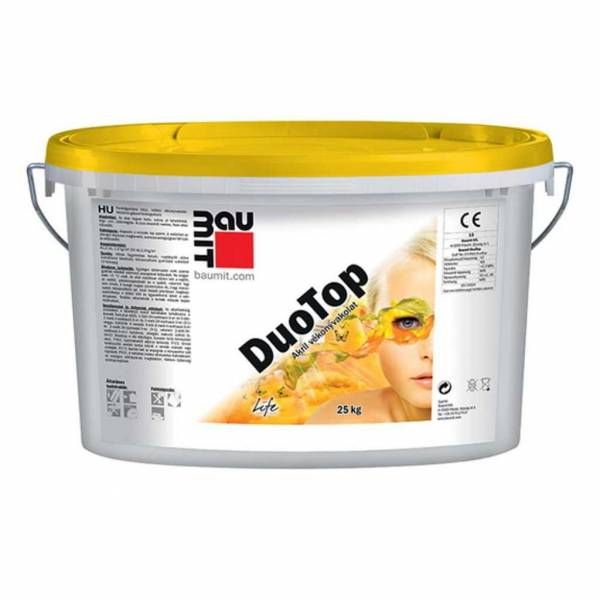 Baumit DuoTop vékonyvakolat - fehér színcsoport - 25 kg
