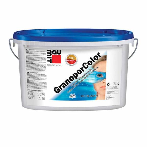 Baumit GranoporColor homlokzati festék - 14 kg - II. színkategória
