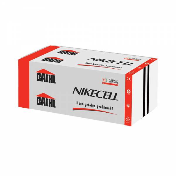 Bachl Nikecell EPS 200 - fokozott nyomóterhelésnek kitehető hőszigetelő lemez - 80 mm