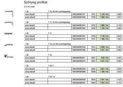 Murexin szőnyeg profilok - T 16, 3,5 mm szármagasság, natur eloxált - 2,71 m