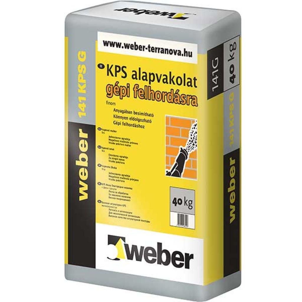 Weber WeberKPS 141G gépi alapvakolat 40kg