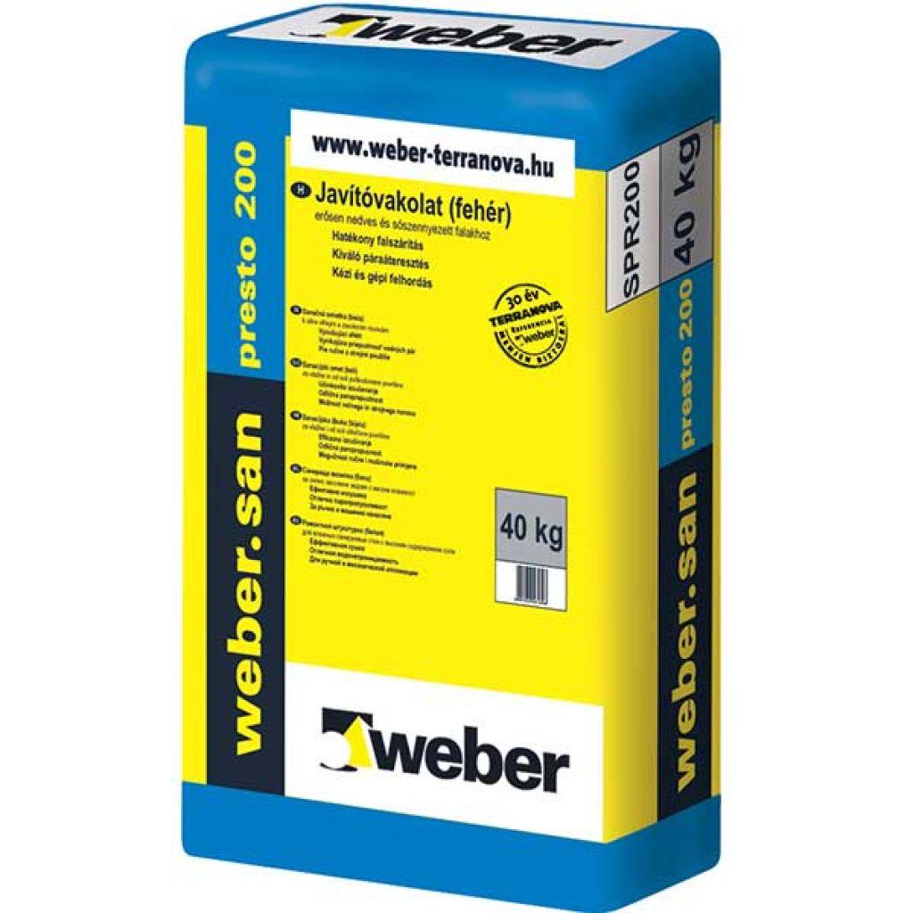 Weber Webersan Presto 200 falszárító gúz 30kg