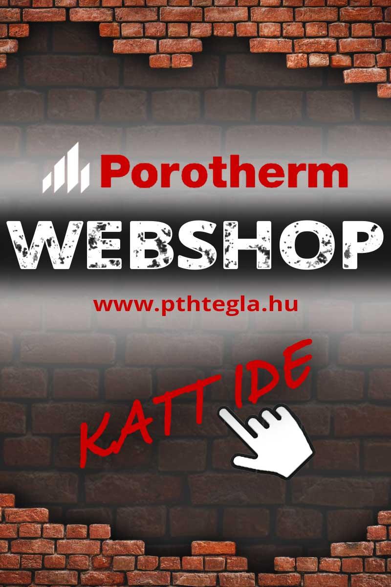 Porotherm tégla webshop
