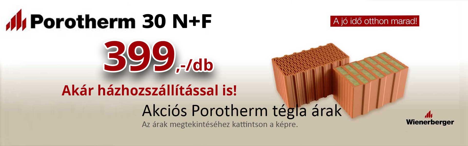 Porotherm tégla akció