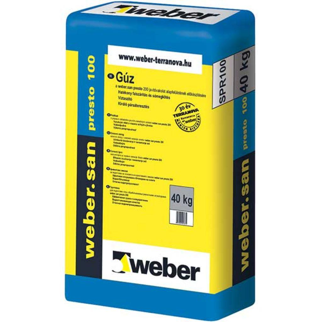 Weber Webersan Presto 100 falszárító gúz 30kg