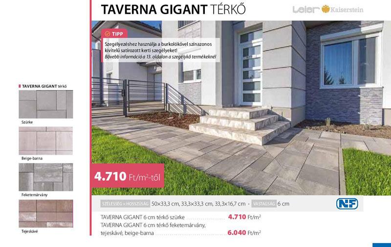 Leier Taverna Gigant térkő