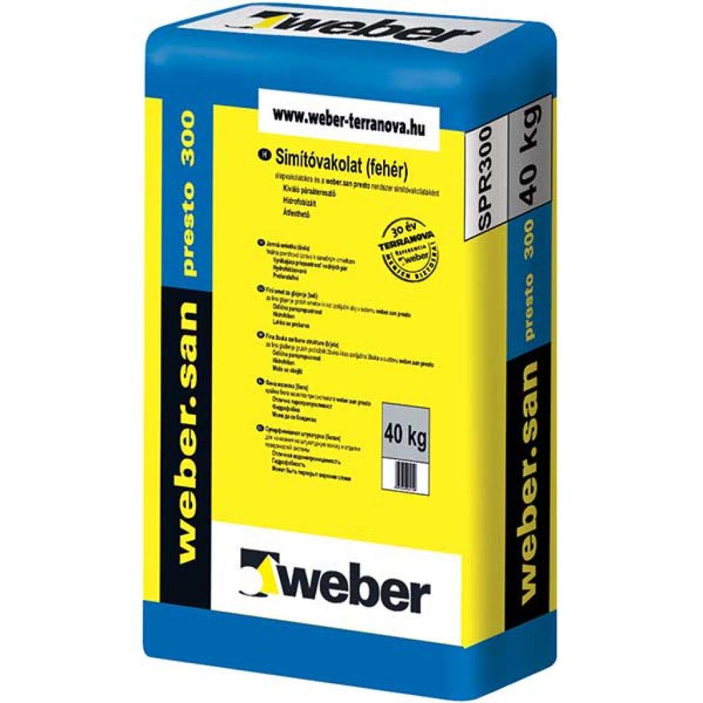 Weber Webersan Presto 300 falszárító simítóvakolat 30kg