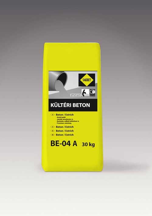 Sakret BE-04A kültéri betonesztrich 30kg